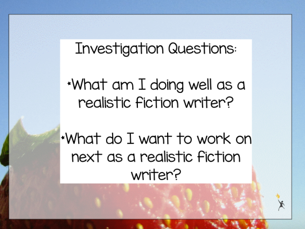 As writers, we began by discussing some questions we were going to investigate as writers.