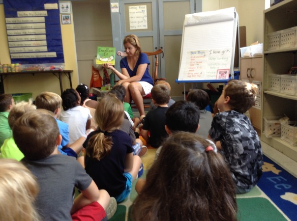 Look! Our principal, Mrs. Sisul, came to visit us this week! She read a great story to us called, Excellent Ed!
