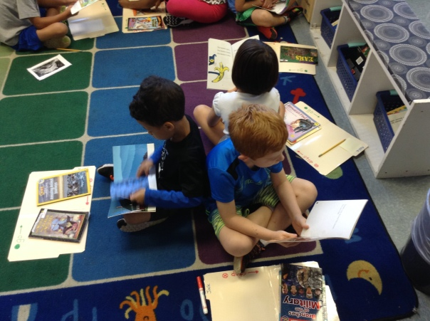 Check out this trio of Addie, Myles and Jack working on their reading habits.