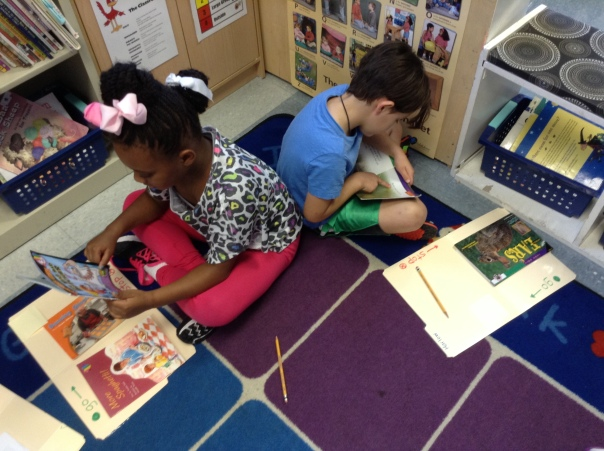 Amora and Harlow practiced their reading habits.