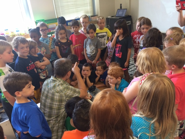 Mr. Bartin prompted some interesting discoveries about sound during his visit.
