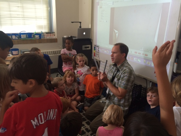Mr Bartin continued to share about sound with two classes of first graders!