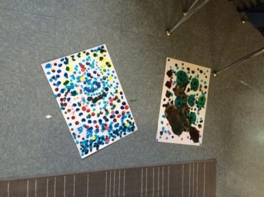 """First graders were making """"dot"""" art."""