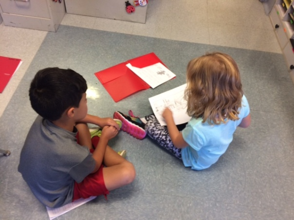 Amelia and Kai worked to support one another as writers by treading their stories to one another.
