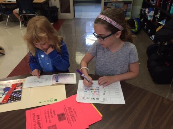 Amelia read with her buddy.