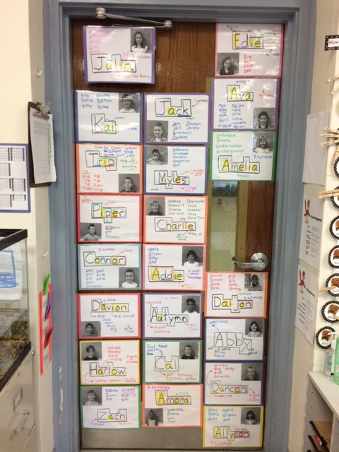 We finished our door with photos and learning about each student's name in our class!