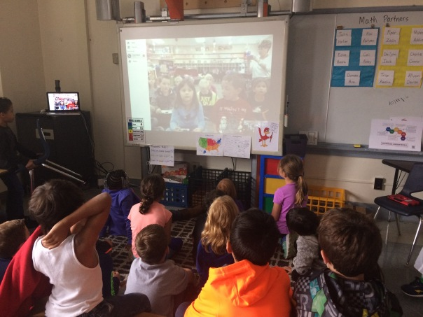 Here we are looking at our new Skype friends!