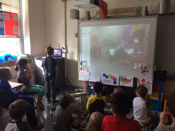 A view during our Skype session!