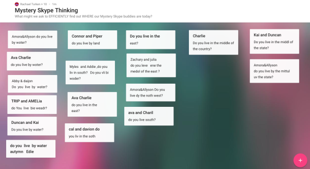 We created a Padlet to collaborate with one another to decide on questions to ask.