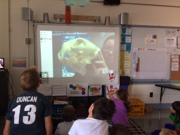 We learned about a mountain lion during our Skype session and got to see a SKULL as we learned!