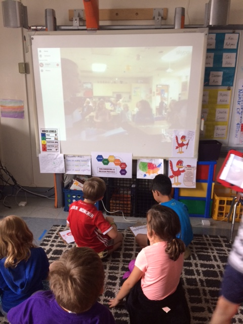 This is what is looks like during a Skype session - check our our Question Counters in the front row!