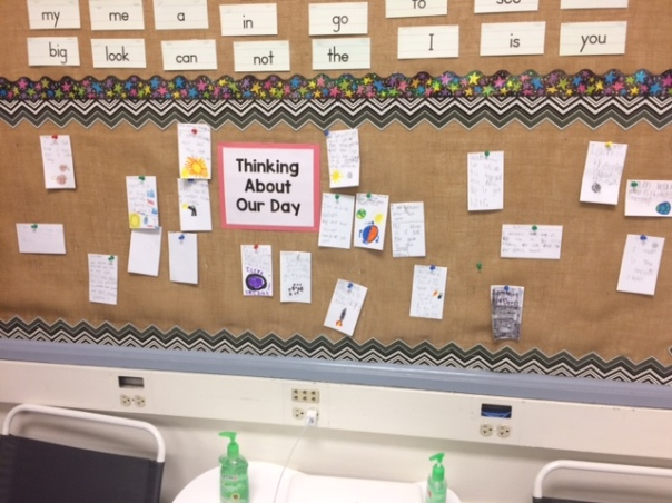 After reading several books this week about space and objects in the sky, we had many wonderings. We decided to post our thinking.