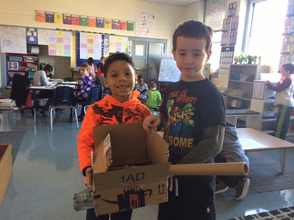 Scientists Myles and Trip created a Mars rover. Awesome work, boys!