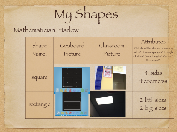 Check out page 1 of Harlow's Keynote about shapes.