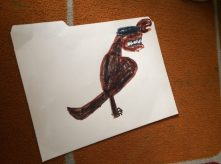 After learning about dinosaurs from a dinosaur researcher we decided to decorate our paleontology research folders.