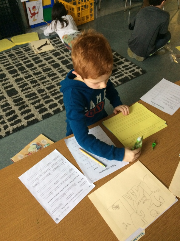 Look at this hard working author/paleontologist!