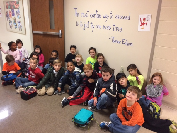 We found a quote on the wall at Robinson by Thomas Edison! So . . . we HAD to take a picture of it!