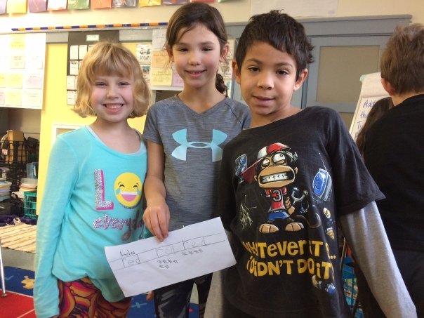 These kiddos were so proud of their handwriting work they wanted to show it off to others!