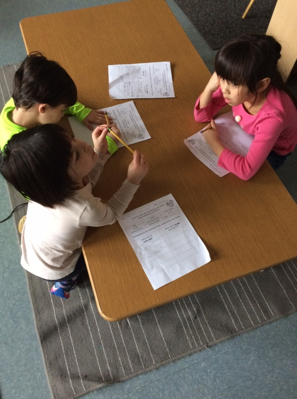 The first graders were planning for their student-led conference.