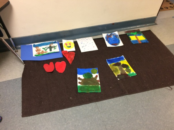 We created items to share with Aberdeen that showed kindness and love.
