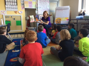 Mrs. Sisul read to us on World Read Aloud Day.