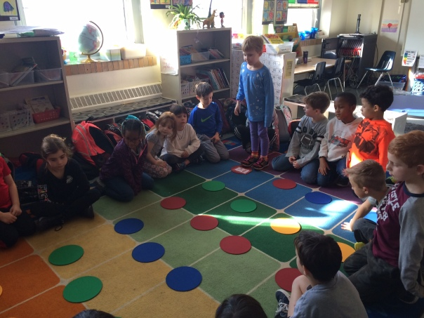 We practiced coding with an activity as a class first.