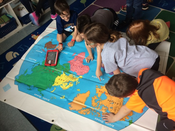 We were so excited to look at a map of the world - and specifically, Africa!