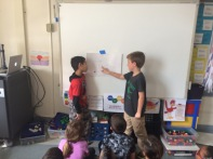 These mathematicians shared their thinking about how they solved the problem.