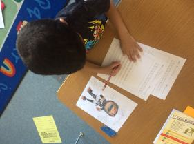 Check out this author writing a realistic fiction piece.