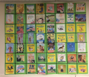 These are the book lists our first grade mathematicians chose from to collect data.