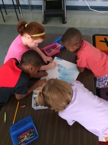 """Working together on our """"David's Drawings."""""""