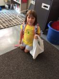 Check out these first graders with their newly made book bags!