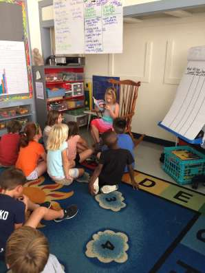 Addison read part of a book to us this week!