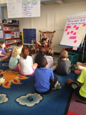 Anthony read a book to us this week!