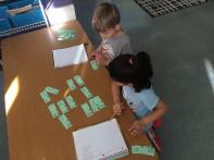 We played a game to help us figure out different ways to make a number.