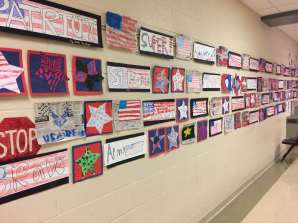 Look at some of the AMAZING artwork on the walls!